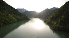 Lake ritsa stock video