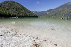 The lake of the river Erlauf with its clear water, Erlaufsee, near Mitterbach, Austria. The lake of the river Erlauf, Erlaufsee, near Mitterbach, Austria. The royalty free stock photography