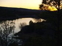 Lake Roberts Sunset Royalty Free Stock Photography