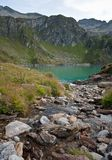 Lake at robiei mountain Stock Photography