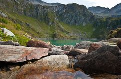 Lake at robiei mountain Stock Images