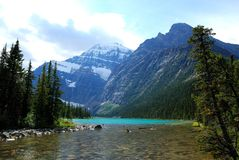 Lake in Rockies royalty free stock photo