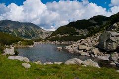Lake and Rocks Stock Photo