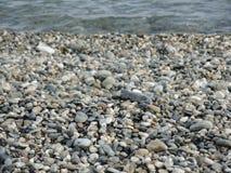 Lake rocks. Lake rocks in the Fagnano Lake in Argentina Stock Image