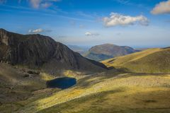Lake, Rocks, Mountain, Snowdonia Stock Images