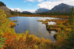 The lake in the Rocky Mountains Stock Photography