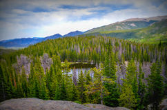 Lake in Rocky mountains Royalty Free Stock Photos