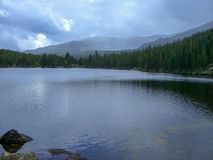 a lake in the rocky mountains royalty free stock images