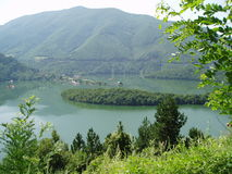 Lake in Rodopi, Bulgaria. Lake in Rodopi mountine, Bulgaria, outstanding nature, clean water Royalty Free Stock Images