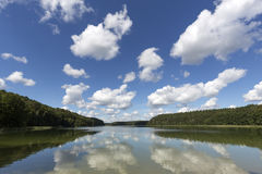 Lake Roofensee in the eastern part of Germany Stock Image