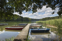 Lake Roofensee in the eastern part of Germany Stock Photography