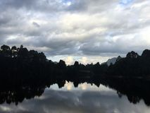 Lake Rosebery, Tasmania. Clouds and reflection in Tasmania Stock Photography