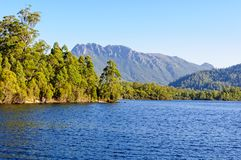 Lake Rosebery in the West Coast Region of Tasmania. Lake Rosebery is a man-made reservoir in the West Coast region of Tasmania, Australia Royalty Free Stock Photos