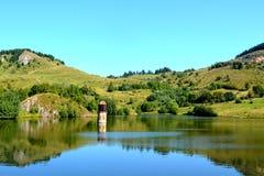 Lake in Rosia Montana, Transylvania Royalty Free Stock Photo