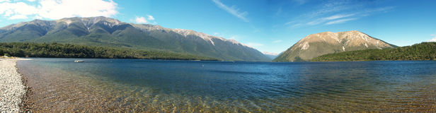 Lake Rotoiti panorama Royalty Free Stock Images