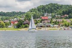 Lake in Roznow stock image