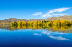 Lake Ruataniwha in New Zealand. Stock Photography