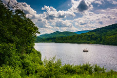 Lake in the rural Potomac Highlands of West Virginia. Stock Photo