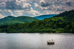 Lake in the rural Potomac Highlands of West Virginia. Stock Images
