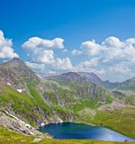 Lake in a russian caucasus mountains Stock Photo