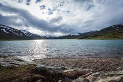 The lake Russvatnet. Nice view of the lake Russvatnet royalty free stock images