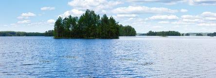 Lake Rutajarvi summer view (Finland). Royalty Free Stock Photos