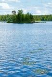 Lake Rutajarvi summer view (Finland). Royalty Free Stock Photography