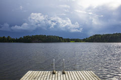 Lake. It's unnamed lake in Finland Royalty Free Stock Photos
