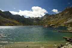 Lake Sabrina. In California's Eastern Sierra Nevada mountain range stock image