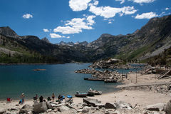 Lake Sabrina in California. In this photo you can see a beautiful alpine lake Sabrina in California. There is excellent fishing for trout Stock Photos