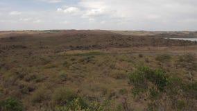 Lake in safari in Tanzania. Lake and rainy weather in safari in Tanzania, Africa stock video