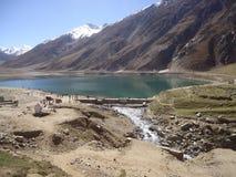 Lake saif ul malook pakistan stock photo