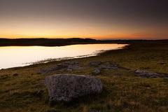 Lake of Saint Andeol in Aubrac, Lozere Stock Images