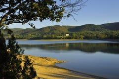 Lake of Saint-Ferreol Stock Photo