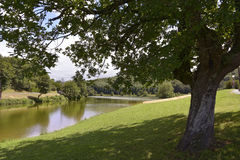 Lake of Saint-Pée-sur-Nivelle in France. Lake of Saint-Pée-sur-Nivelle, a village in the traditional Basque province of Labourd, now a commune in the Pyr stock images