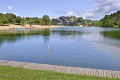 Lake of Saint-Pée-sur-Nivelle in France. Lake of Saint-Pée-sur-Nivelle, a village in the traditional Basque province of Labourd, now a commune in the Pyr royalty free stock image