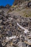 Lake sainte anne qeyras in hautes alpes in france Stock Photo