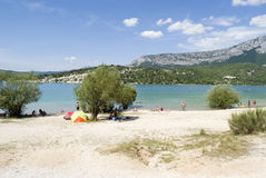 Lake of Sainte-Croix, France Stock Images