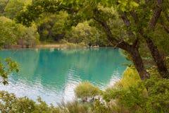 Lake sainte croix. Glimpse of the lake of Sainte Croix - provence - france Stock Photography