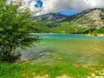 Lake of Sainte-Croix, France stock image