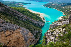 The Lake of Sainte-Croix and Verdon Gorges, France royalty free stock photo