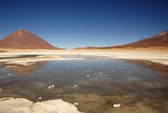 Lake in the Salar Royalty Free Stock Photography