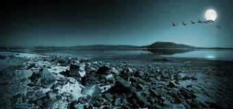 Lake Salda in Turkey at night Stock Photography