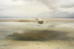 lake salt qinghai Arkivbild