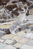 Lake with salt water. From which salt is extracted - Peru Stock Photography