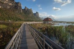 Lake at Sam Roi Yod National Park. Beautiful Lake at Sam Roi Yod National Park in Thailand stock image