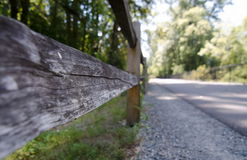Lake Sammamish trail at summer. Fence on Lake Sammamish trail at summer Royalty Free Stock Images