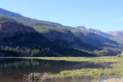 Lake San Cristobal. In Lake City, Colorado offers scenic views and great fishing Stock Photos