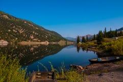 Lake San Cristobal second largest natural lake in Colorado namesake for Lake City Stock Photos