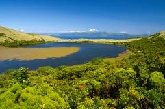 Lake Sant Jorge. Pico ö Royaltyfria Foton